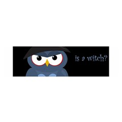 Halloween witch - blue owl Satin Scarf (Oblong)