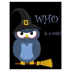 Halloween witch - blue owl Drawstring Bag (Large)