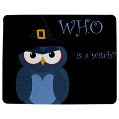 Halloween witch - blue owl Jigsaw Puzzle Photo Stand (Rectangular)