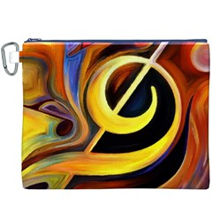 Art Oil Picture Music Nota Canvas Cosmetic Bag (XXXL)
