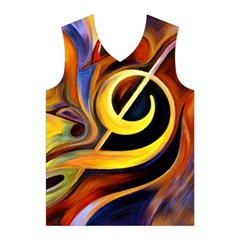 Art Oil Picture Music Nota Men s Basketball Tank Top