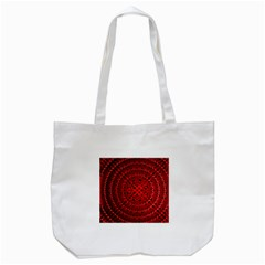 Background Structure Pattern Red Tote Bag (White)
