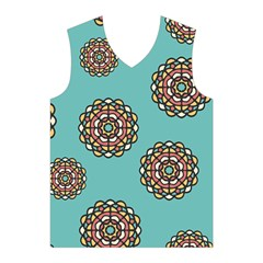 Circle Vector Background Abstract  Men s Basketball Tank Top