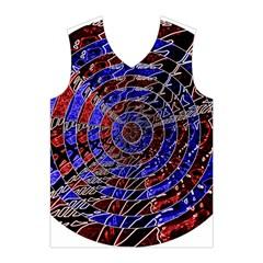 Creative Batik Artwork Blue Red Men s Basketball Tank Top