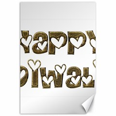Happy Diwali Greeting Cute Hearts Typography Festival Of Lights Celebration Canvas 20  x 30
