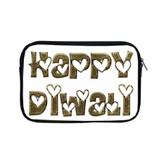 Happy Diwali Greeting Cute Hearts Typography Festival Of Lights Celebration Apple iPad Mini Zipper Cases