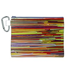 Fabric Colorful Color Pattern Canvas Cosmetic Bag (XL)