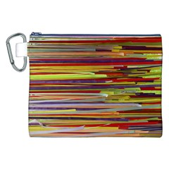 Fabric Colorful Color Pattern Canvas Cosmetic Bag (XXL)