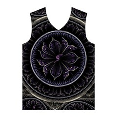 Fractal Abstract Purple Majesty Men s Basketball Tank Top