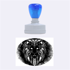 Lion Wild Animal Abstract Rubber Oval Stamps