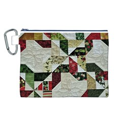Prize Winning Quilt  Canvas Cosmetic Bag (L)