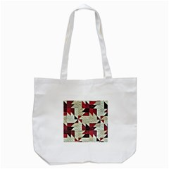 Prize Winning Quilt Triangle Design Tote Bag (White)