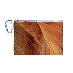 Sandstone The Wave Rock Nature Canvas Cosmetic Bag (M)