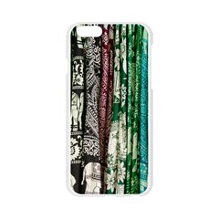 Silk Fabric Bright Retired Apple Seamless iPhone 6/6S Case (Transparent)