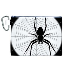 Spider Web Spider Web Insect Canvas Cosmetic Bag (XL)