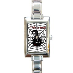 Halloween cute spider Rectangle Italian Charm Watch