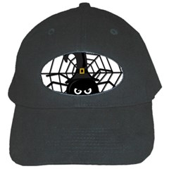 Halloween cute spider Black Cap