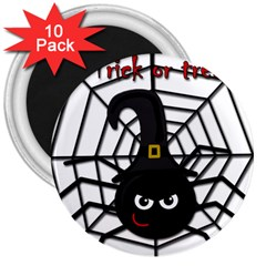 Halloween cute spider 3  Magnets (10 pack)