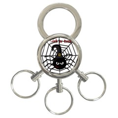 Halloween cute spider 3-Ring Key Chains