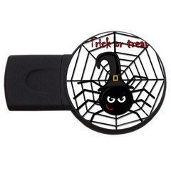 Halloween cute spider USB Flash Drive Round (2 GB)