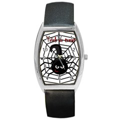 Halloween cute spider Barrel Style Metal Watch