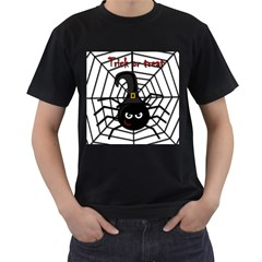 Halloween cute spider Men s T-Shirt (Black) (Two Sided)