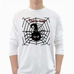 Halloween cute spider White Long Sleeve T-Shirts