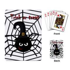 Halloween cute spider Playing Card