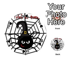 Halloween cute spider Playing Cards 54 (Round)