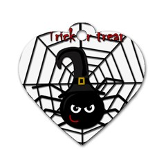 Halloween cute spider Dog Tag Heart (One Side)