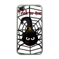 Halloween cute spider Apple iPhone 4 Case (Clear)