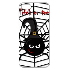 Halloween cute spider Apple Seamless iPhone 5 Case (Clear)