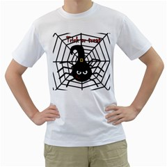 Halloween cute spider Men s T-Shirt (White)