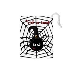 Halloween cute spider Drawstring Pouches (Small)