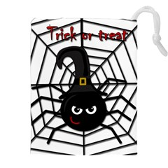 Halloween cute spider Drawstring Pouches (XXL)