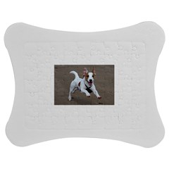 Jack Russell Terrier Running 2 Jigsaw Puzzle Photo Stand (Bow)