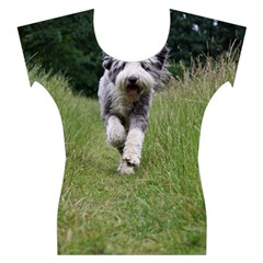Bearded Collie In Motion Women s Cap Sleeve Top