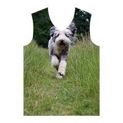 Bearded Collie In Motion Men s Basketball Tank Top