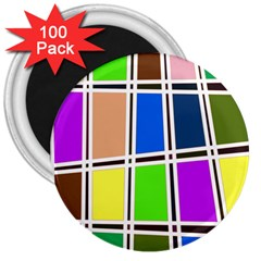 Abstract 3  Magnets (100 pack)