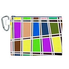 Abstract Canvas Cosmetic Bag (XL)