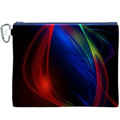 Abstract Line Wave Design Pattern Canvas Cosmetic Bag (XXXL)