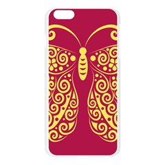 Butterfly Insect Bug Decoration Apple Seamless iPhone 6 Plus/6S Plus Case (Transparent)