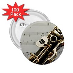 Clarinet Musical Instrument Woodwind 2.25  Buttons (100 pack)