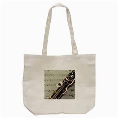 Clarinet Musical Instrument Woodwind Tote Bag (Cream)