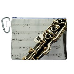 Clarinet Musical Instrument Woodwind Canvas Cosmetic Bag (XL)