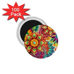 Colorful Abstract Background 1.75  Magnets (100 pack)