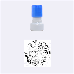 Colorful Abstract Background Rubber Round Stamps (Small)