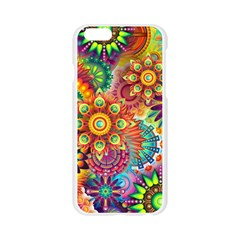 Colorful Abstract Background Apple Seamless iPhone 6/6S Case (Transparent)