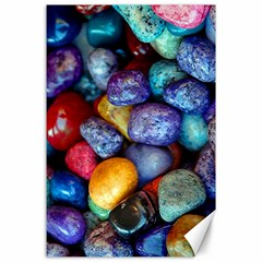 Colorful Rocks Stones Background Canvas 24  x 36