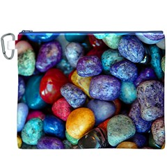 Colorful Rocks Stones Background Canvas Cosmetic Bag (XXXL)